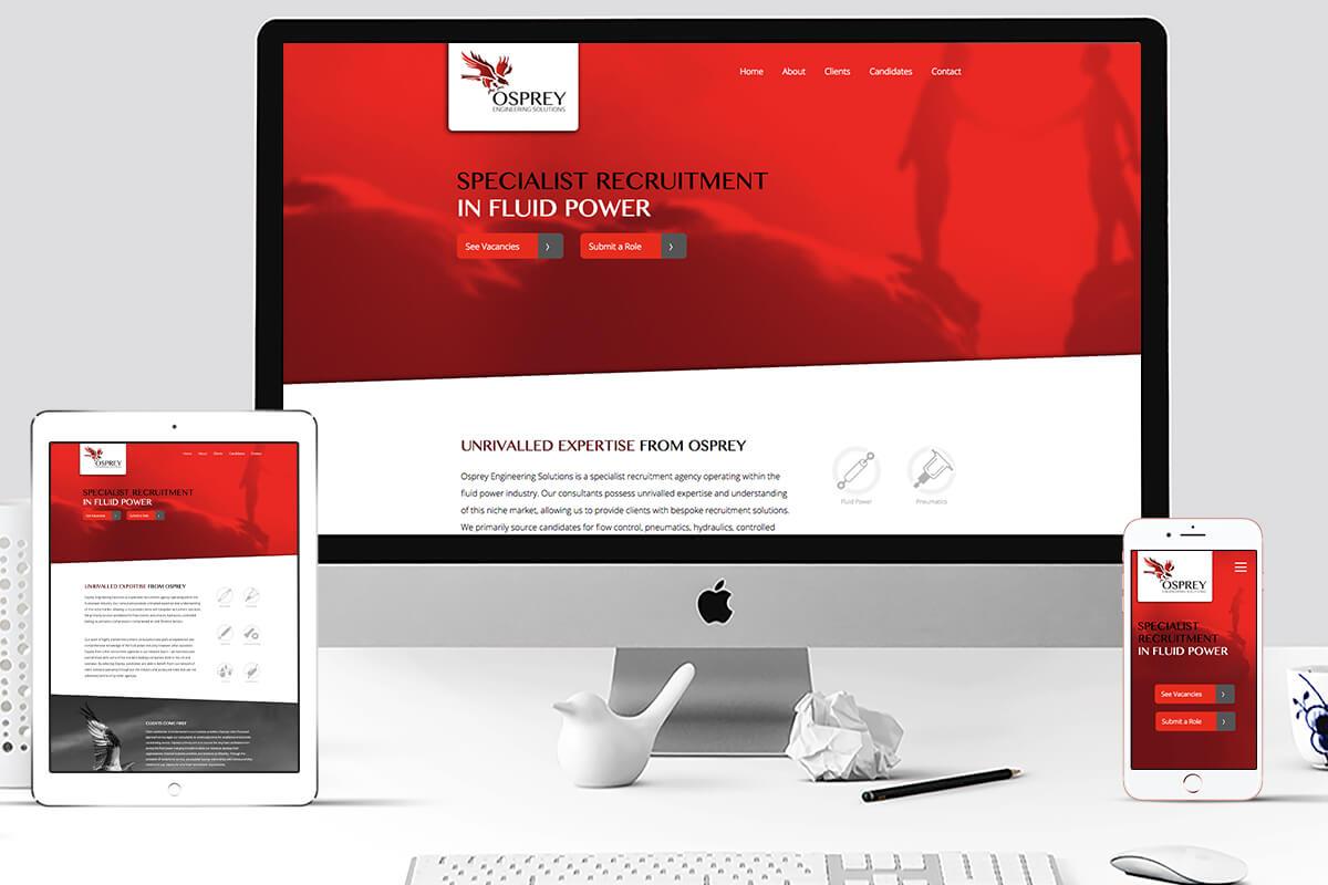 Animated Responsive Website Design for Osprey Engineering